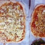 ホームベーカリーで作った具だくさんピザ