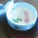 玉ねぎとベーコンの洋風茶碗蒸し