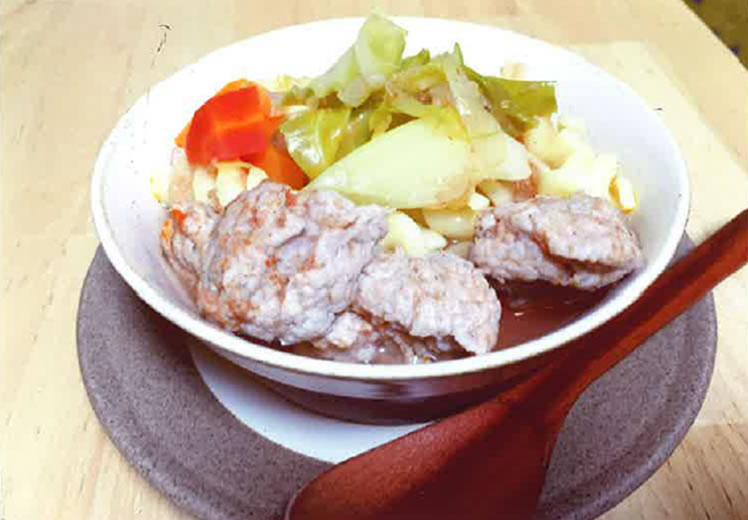 ぷりっと肉団子トマトスープマカロニ